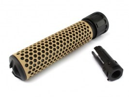 Quick Detach Supressor / Silencer KAC QDC, 175mm - Black / TAN [Big Dragon]