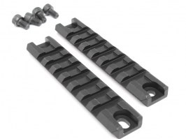 Two pieces of metal G36C ris rails including screws, 98mm long, black [Big Dragon]