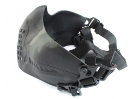 Face protecting Tactical Pilot mask - Multicam Black [Big Dragon]