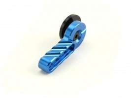 CNC selector lever for M4 - blue [Big Dragon]