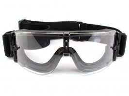Tactical goggle X800 Platinum (X800I) black - clear [Bollé]