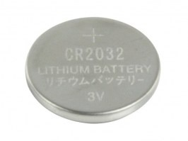 Lithium button battery 3V CR2032 [-]
