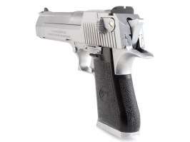 Airsoft pistol DE .50AE GBB, metal slide, blowback - silver [WE]