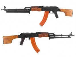 Machine gun RPK - steel, real wood, folding stock (CM.052)