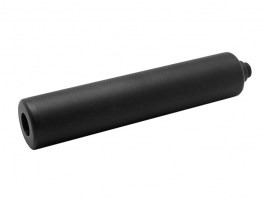 Metal silencer 140mm with 11mm adaptor for pistol - black [Dytac]