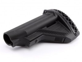 HK416 style collapsible battery stock for M4/M16 AEG - black [E&C]