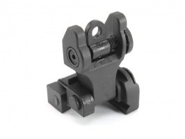 Rear metal folding TROY sight for RIS rails [E&C]