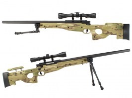 SAG L96 Sniper UPGRADE + scope + bipod - Multicam