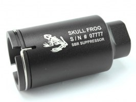 Flash hider M4 Mini Version Skull Frog style - black [Element]