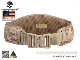 Padded Molle Waist Battle Belt - Multicam Arid