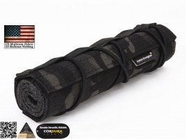 18cm Airsoft Suppressor Cover - Multicam Black [EmersonGear]