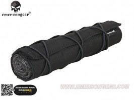 22cm Airsoft Suppressor Cover - black [EmersonGear]