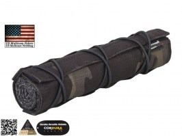 22cm Airsoft Suppressor Cover - Multicam Black [EmersonGear]