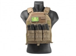 419 Plate Carrier Tactical Vest - Coyote Brown (CB) [EmersonGear]