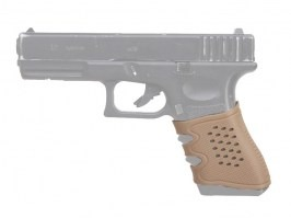 Antiskid rubber grip for G series pistols - TAN [Big Dragon]