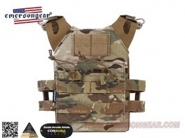 Jumer Plate Carrier for Kids With Double M4 Pouch and dummy ballistic plates - Multicam