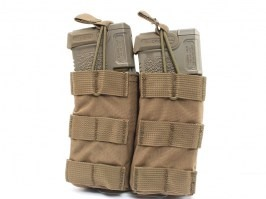 Modular Open Top Double MAG Pouch - Coyote Brown (CB) [EmersonGear]