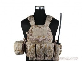 LBT6094A Plate Carrier With 3 Pouches - AOR1 [EmersonGear]