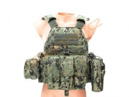 LBT6094A Plate Carrier With 3 Pouches - AOR2 [EmersonGear]