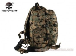3-Day Molle Assault Backpack Bag, Nylon 1000D, 35L - Woodland Marpat [EmersonGear]