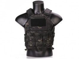 420 Plate Carrier Tactical Vest With 3 Pouches - Multicam Black