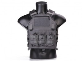 420 Plate Carrier Tactical Vest With 3 Pouches - Wolf Grey [EmersonGear]