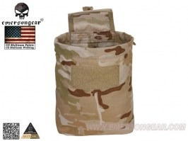 Empty magazine ammo folding dump bag - Multicam Arid