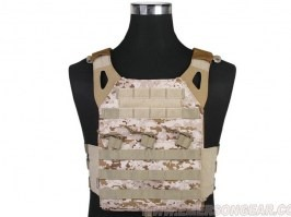 Jumer Plate Carrier With Triple M4 Pouch and dummy ballistic plates - AOR1 [EmersonGear]