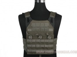 Jumer Plate Carrier With Triple M4 Pouch and dummy ballistic plates - Foliage green (FG) [EmersonGear]