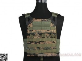 Jumer Plate Carrier With Triple M4 Pouch and dummy ballistic plates - Marpat [EmersonGear]