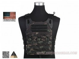 Jumer Plate Carrier With Triple M4 Pouch and dummy ballistic plates - Multicam Black [EmersonGear]