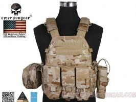 LBT6094A Plate Carrier With 3 Pouches - Multicam Arid [EmersonGear]