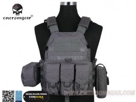 LBT6094A Plate Carrier With 3 Pouches - Wolf Grey (WG) [EmersonGear]