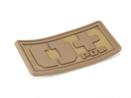 PVC 3D Blood type velcro patch 0+  - DE color [EmersonGear]