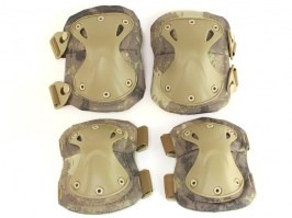 Tactical elbow and knee pad set - A-TACS AU [EmersonGear]