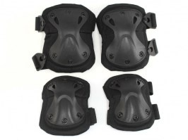 Tactical elbow and knee pad set - black [EmersonGear]
