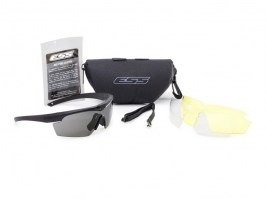 Crosshair 3LS black glasses with ballistic resistance - clear, gray, yellow [ESS]