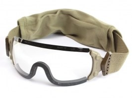 Jumpmaster goggle with ballistic resistance, TAN - clear [ESS]