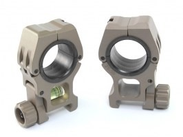 CNC 25/30mm high mount rings with the spirit level - DE [FMA]