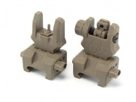 Front & rear folding polymer battlesight Gen.3 - DE [FMA]