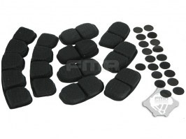 Helmet upgrade version memory foam pad, 9pcs - BK [FMA]