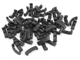Segment index RIS cover clips, 60 pcs - black [FMA]