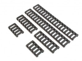 Set of rubber RIS covers - 6 pcs, black [FMA]
