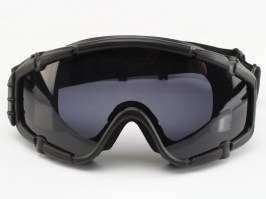 Tactical goggle fan version black - clear, smoke grey [FMA]