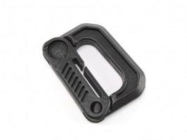 Universal 5cm D shape quick hook plastic bucle - black [FMA]