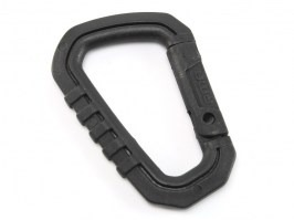 Universal 8cm D shape quick hook plastic bucle - black [FMA]