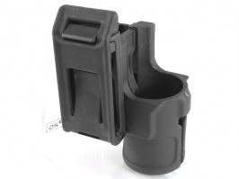 V85 polymer belt speed flashlight holster - black [FMA]