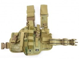 Tactical drop leg pistol holster, left - A-TACS FG [101 INC]