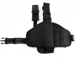 Tactical drop leg pistol holster, left - Black [101 INC]