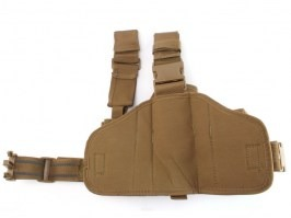 Tactical drop leg pistol holster, left - Khaki [101 INC]